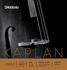 D'Addario Kaplan Cello String Set, 4/4 Scale, Heavy Tension