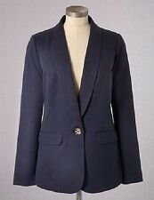 NWT $118 BODEN WOMEN'S NAVY LYOCELL RELAXED JACKET BOYFRIEND BLAZER WE385 - US 6