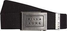 Billabong cintura da uomo. NUOVO SERGENTE Nero Cinturino Regolabile Jeans Cinghia 8 S 2 19