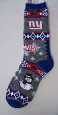 New York Giants Socks Large Size 5 to 10 Holiday Christmas Snowman