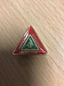 National Cycling Proficiency Pin Badge 1980s