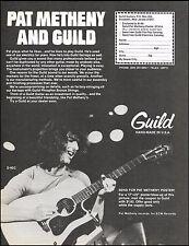 Pat Metheny 1980 Guild D-40C acoustic guitar ad 8 x 11 advertisement print