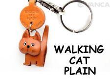 Plain Cat Walking Handmade 3d Leather Keychain/charm VANCA Made in Japan #56415