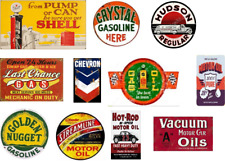 o scale vintage, weathered & unusual gas station decals