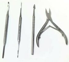 """Ingrown Toe Nail Nipper ,Cutter Straight Jaw 4""""Special Designed File"""