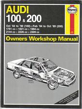 Audi 100 & 200 Petrol models inc. Turbo & Avant Oct 1982-1990 Haynes Manual