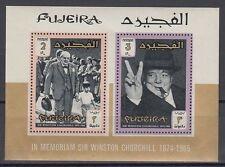 Fujeira 1966 ** Bl.3 A Churchill Politiker Politician
