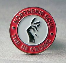 NORTHERN SOUL - LAPEL PIN BADGE - THE IN CROWD MUSIC DANCE RHYTHM (KT-36)