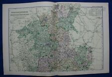 WORCESTERSHIRE & GLOUCESTERSHIRE, original antique county map x 2, Bacon, 1895