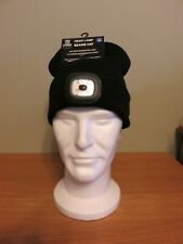 STORM RIDGE Head Lamp Beanie Hat - Black - ONE SIZE - Batteries Included - NEW