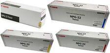 4 x Canon Genuine NPG-22 Black/Cyan/Magenta/Yellow Toner Cartridge Ink FULL SET