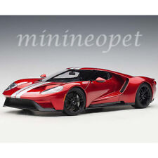 AUTOart 72943 2017 FORD GT 1/18 MODEL CAR LIQUID RED / SILVER STRIPES