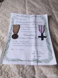 Conferimento.L'onorificenza Di Cavaliere.All'ordine Di Vittorio Veneto.