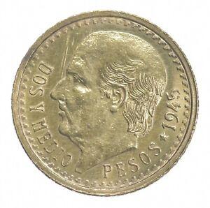 1945 2 1/2 Pesos - Miguel Hidalgo y Costilla - Mexico Gold Coin *413