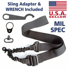 AR 15 Single Point Rifle Sling with QD Sling Swivel Mount & Castle Nut Wrench