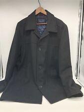 USED Mens XL Tommy Hilfiger Wool Coat Black