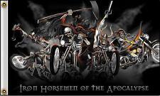 Iron Horsmen Skeletons Bikes 3 X 5 Motorcycle Deluxe Biker Flag #401 New