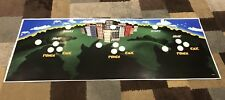 Rampage World Tour Arcade Control Panel Overlay CPO With Holes Decal Midway