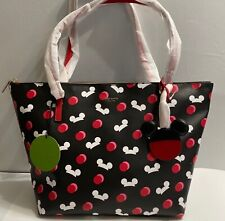Disney Parks Kate Spade Mickey Mouse Icon Ear Hat Tote Bag Black Retired