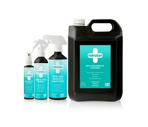 NatraSan Antiseptic Spray - Kills 99.9999% of Germs, Skin & Surface Disinfectant