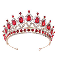 6.6cm High 6 Colors Crystal Wedding Bridal Party Pageant Prom Tiara Crown Gift