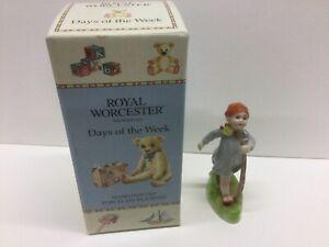 Royal Worcester Thursday Boy. Porcelain figurine