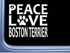 "Boston Terrier Peace Love L604 Dog Sticker 6"" decal"