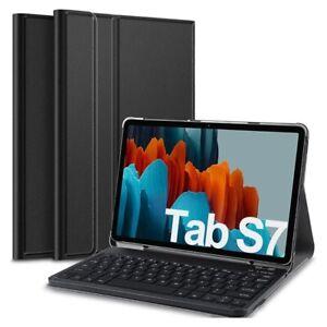 Hülle mit Bluetooth Tastatur für Samsung Galaxy Tab S7 - QWERTY - US Layout -...