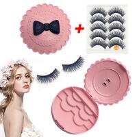 5 Pair Soft False Eyelash Eyelashes Eye Lashes Makeup Long Thick /Eyelashes Case