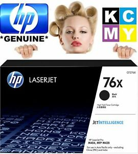 HP GENUINE ORIGINAL 76X CF276X BLACK BK B LASER PRINTER TONER CARTRIDGE
