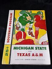 1959 Michigan State vs. Texas A&M Souvenir Program Spartan Stadium
