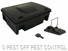 1 X RAT MICE MOUSE RODENT PROTECTOR BAIT BOX and SNAP TRAP NO POISON SOLUTION