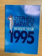 1995 STEPHEN BARWICK CRICKET BENEFIT LARGE ILLUSTRATED BROCHURE