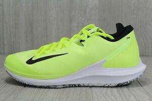 46 Nike Air Zoom Zero PRM HC Tennis Shoes Volt Black White SZ 8 -12 AO5021-700