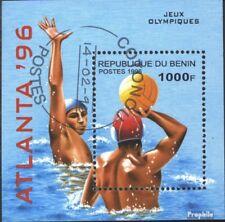 Benin Blok 14 gestempeld 1996 Spelen. Zomer´96, Atlanta