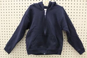 Hanes EcoSmart Youth Hooded Full Zip Jacket (Black, Small)