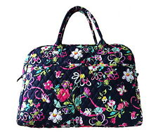 Vera Bradley Weekender Tote in Ribbons with Solid Pink Interior - NWT