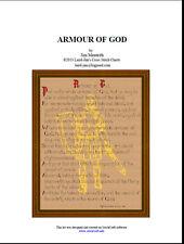 ARMOUR OF GOD - cross stitch chart