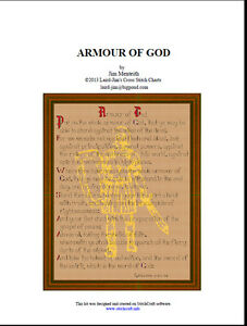 ARMOUR OF GOD - cross stitch chart - PDF file