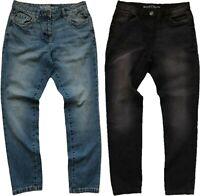 NEXT Washed Blue / Black Denim Mid Rise Relaxed BOYFRIEND BOYFIT Jeans ALL SIZES