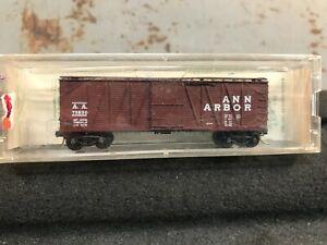 N scale freight car; Ann Arbor boxcar by Kadee