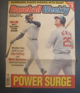 Ken Griffey, Jr & Mark McGwire--1997 Baseball Weekly Cover Only