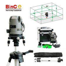 Green Beam 360 8 Line Cross Line Laser Level Rotary Self Leveling with Tripod