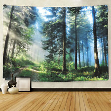 Forest Print Tapestry Art Wall Hanging Decorative Tapestry Bedspread Home Decor