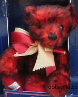 Red Mohair Sunberst MERRYTHOUGHT Teddy Bear in a Trunk at Dollsville, NEW NRFB