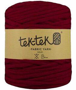 T-SHIRT YARN Garnet New Large Ball Cotton Knit Crochet Weave 130m