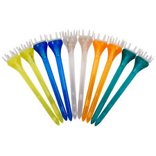 "Masters Max-T Plastic 10 Pack Golf Tees New Strong Long 3"" Length Mixed Colours"