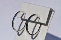 Echt 925 Sterling Silber Ohrringe Creolen 20 mm Nr 278-20
