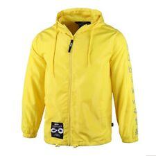 Men's Fashionable Water Resistance Lightweight  Windbreaker Hooded Yellow Jacket