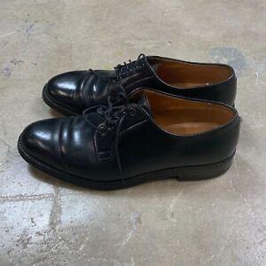 Alden for Brooks Brothers Black Shell Plain Toe Boucher Shoes Men's 9D